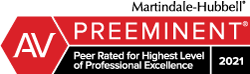 Richard Williamson of Ezer Williams Law has been recognized as AV Preeminent Peer Rated